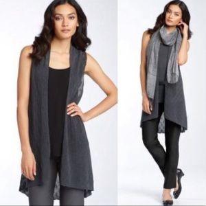 Eileen Fisher Airy Knit Wool Vest Cardigan Sweater